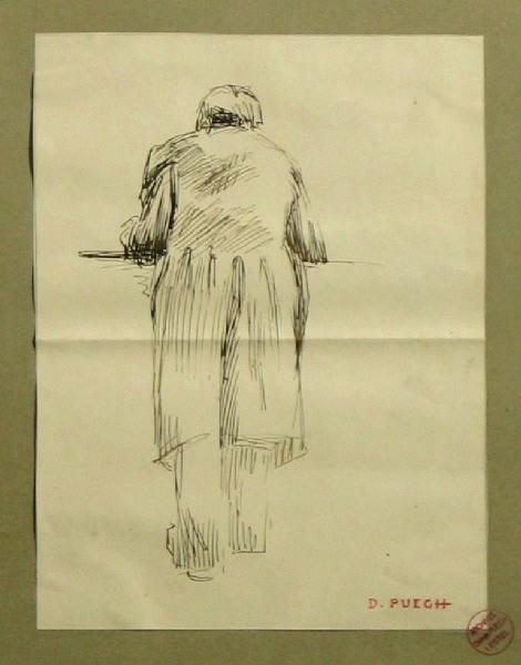 Portrait d'homme de dos