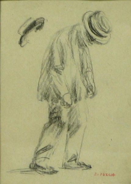PUECH Denys (dessinateur) : Homme au chapeau