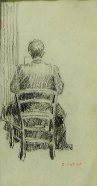 Femme assise de dos_0