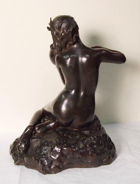 PUECH Denys (sculpteur), HEBRARD A A (fondeur), HEBRARD Adrien Aurélien (fondeur) : La Muse d'André Chénier