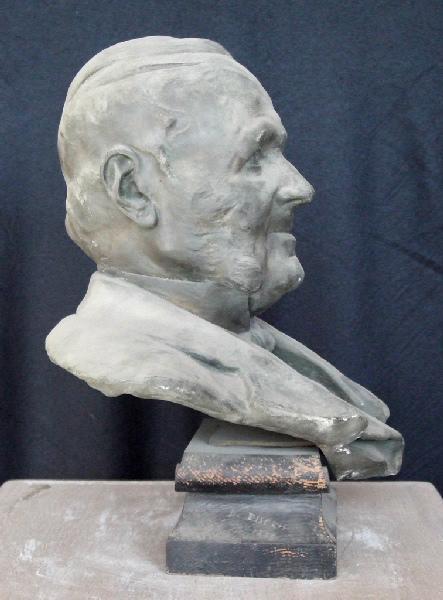 PUECH Denys (sculpteur), BINGEN Pierre (fondeur) : Buste d'homme