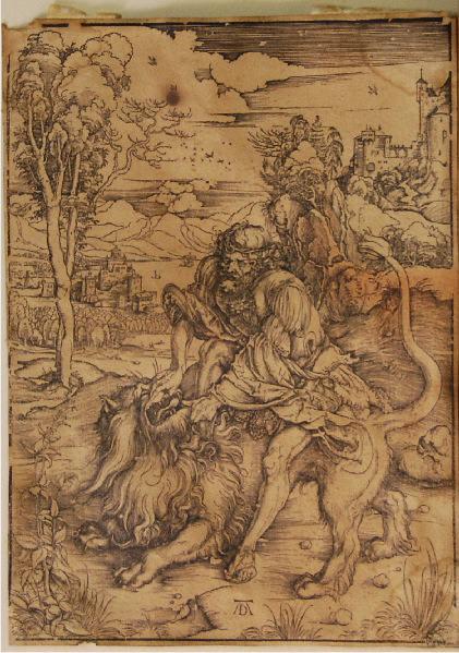 Samson tuant le lion_0