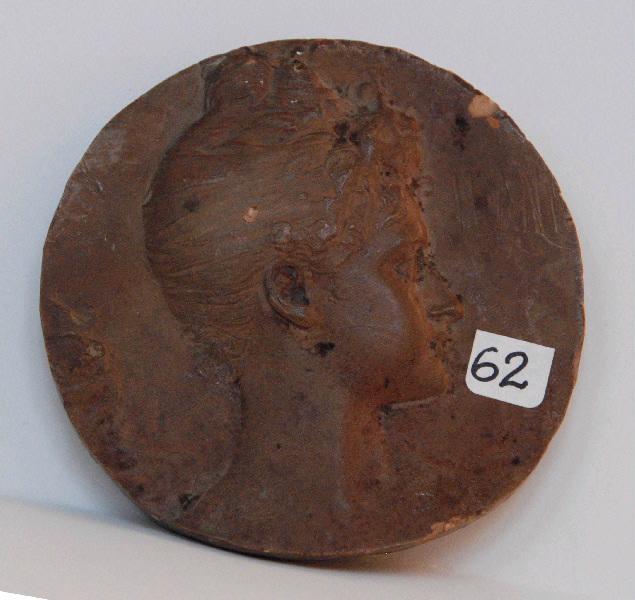 PUECH Denys (sculpteur) : Jeanne Dervillé (médaillon)