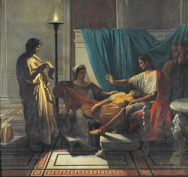 Tu marcellus eris ; Virgile lisant le sixième livre de l'Enéide a Auguste_0