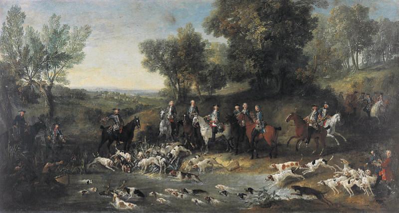 Louis XV chassant le cerf dans la forêt de Saint-Germain_0