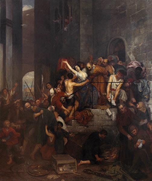 Pillage d'une maison dans le judecca de Venise au Moyen Age_0