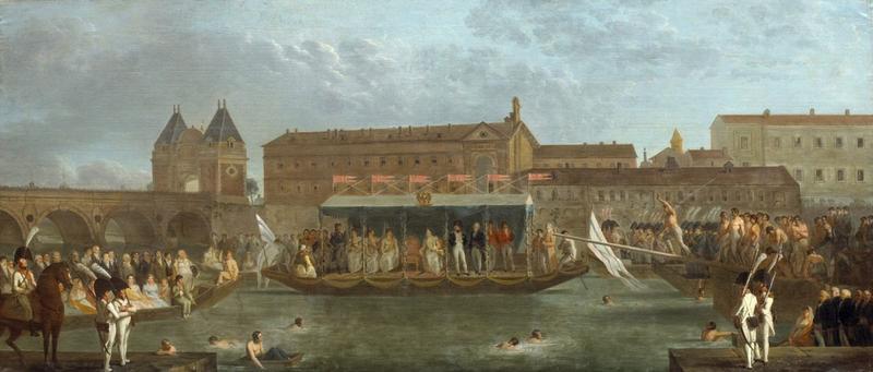 Jeux nautiques sur la Garonne, à Toulouse [près du pont Neuf], en présence de l'empereur Napoléon Ier (26 juillet 1808)_0