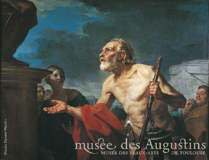 Diogène demandant l'aumone aux statues_0