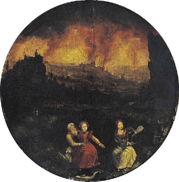 Loth et ses filles fuyant Sodome_0
