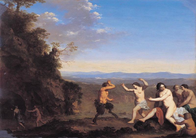 Nymphes et Satyres dans un paysage (Titre de David Fiozzi) ; Bacchanale_0