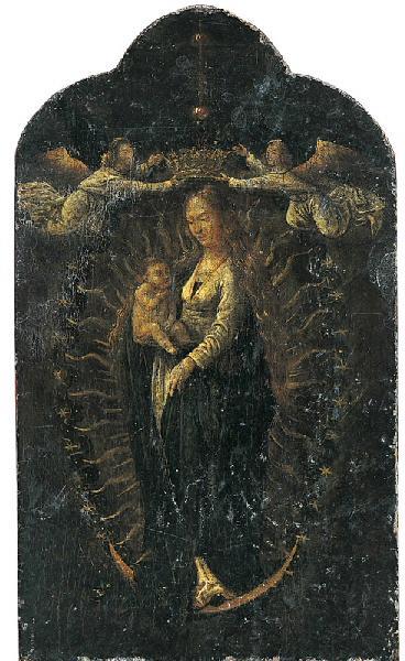 Vierge en gloire couronnée par deux anges_0