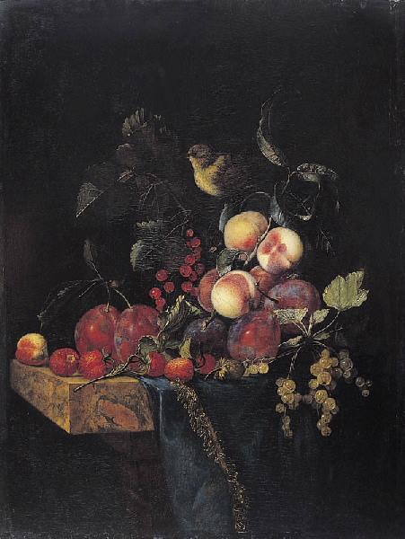 Nature morte de fruits (Titre de David Fiozzi.) ; Tableau de fruits_0