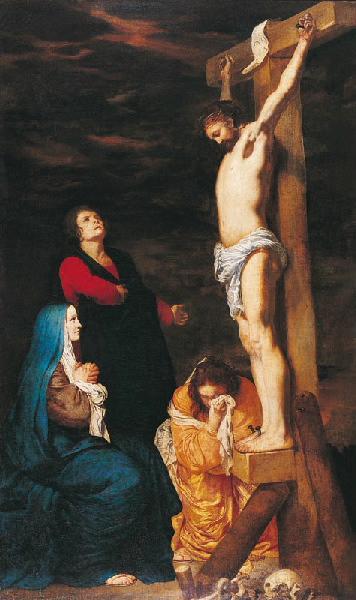 Christ en croix, la Vierge, Madeleine et St Jean ; Christ en croix_0