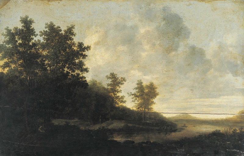 Paysage boisé avec rivière (Titre de David Fiozzi) ; Paysage_0