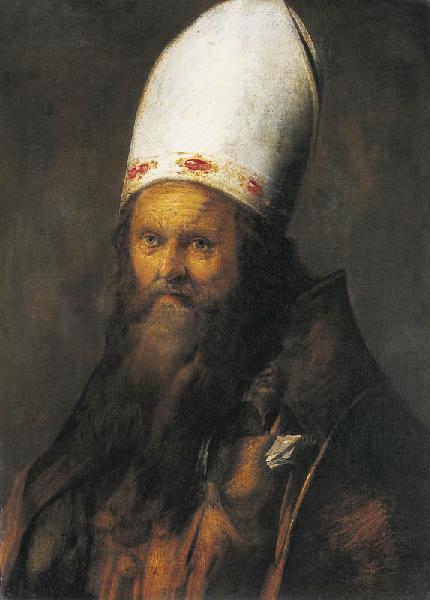 Tête d'évêque (Titre de David Fiozzi) ; Portrait d'un évêque_0