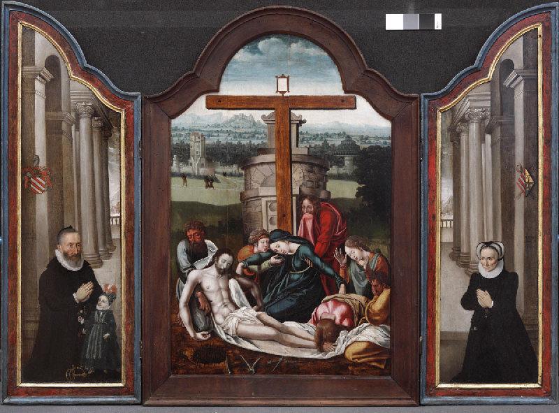 Christ descendu de la croix, donateurs ; Le Christ descendu de la Croix_0