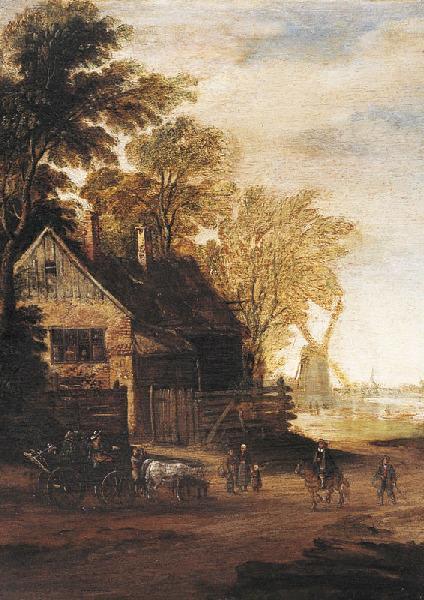 Maison parmi les arbres ; Le moulin_0