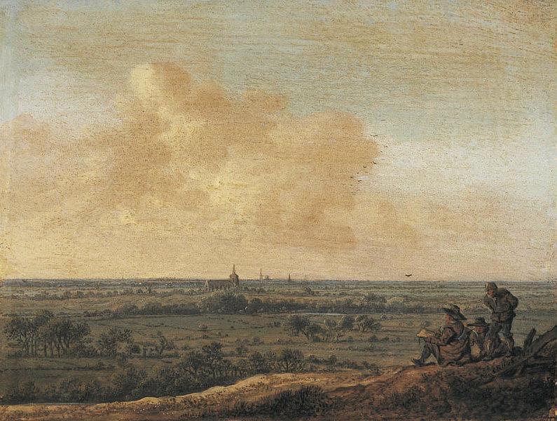 Panorama avec l'église de Loosduinen (le dessinateur) (Titre de David Fiozzi) ; Paysage_0