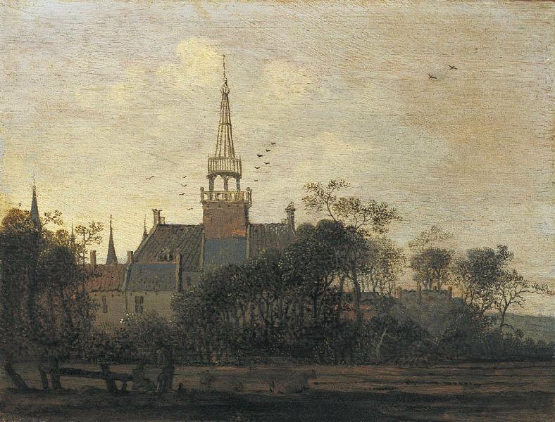 Le château de Westerbeek ; Paysage_0