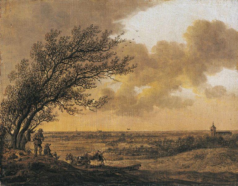 Paysage avec l'église de Wassenaar (l'arbre dans le vent) ; Paysage