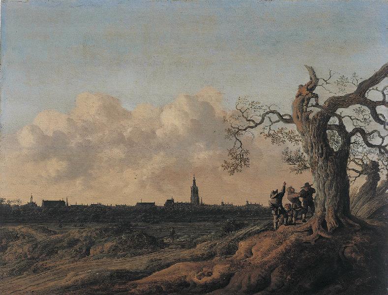 La Haye vue du Nord (Les Dénicheurs d'oiseaux) (Titre de David Fiozzi) ; Paysage (Titre de David Fiozzi)_0