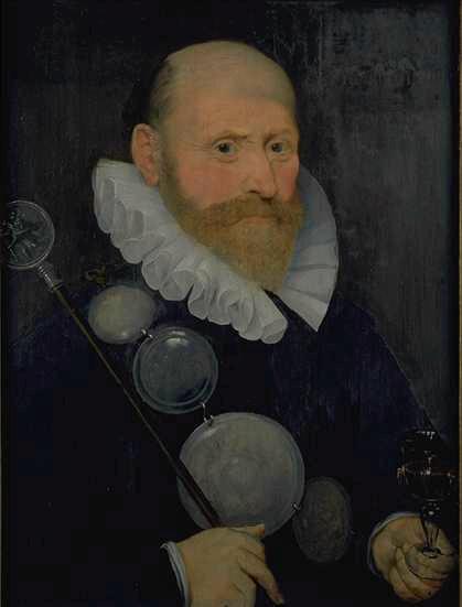 Portrait d'un valet d'une guilde d'arquebusiers ; Portrait d'homme en noir : officier d'une gilde flamande (autre titre)
