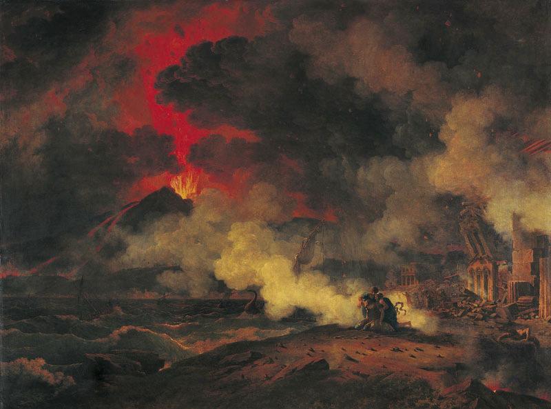 Eruption du Vésuve arrivée le 24 août de l'an 79 de JC sous le règne de Titus