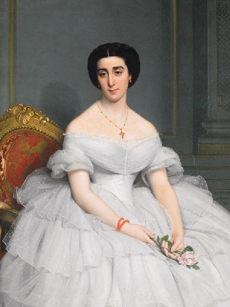 Portrait de la comtesse Charles de Bertier de Sauvigny née Marie-Alice Singher_0