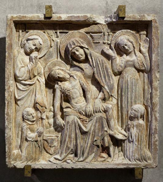 Vierge de Pitié devant les instruments de la Passion (Titre cartel de 2007) ; Pietà sous les instruments de la Passion, Jean, Marie Madeleine et époux donateurs (Ancien titre)_0