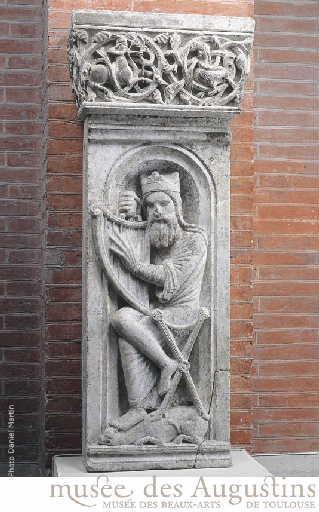 Le roi David accordant sa harpe_0