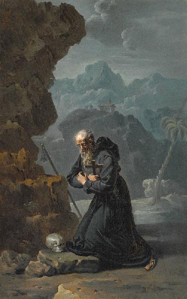 Saint Antoine Abbé ; Un Ermite (saint Jérôme ?) (Ancien titre)