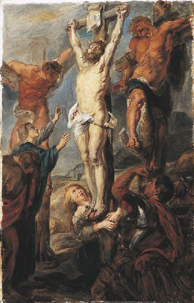 Etude d'après le Christ entre les deux larrons de Rubens ; Christ en croix_0