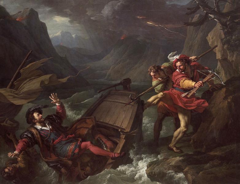 Guillaume Tell renversant la barque sur laquelle le gouverneur Gessler traversait le lac de Lucerne_0