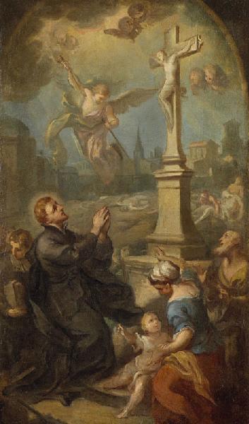 Saint François-Régis intercédant pour les victimes de la peste de Toulouse en 1616