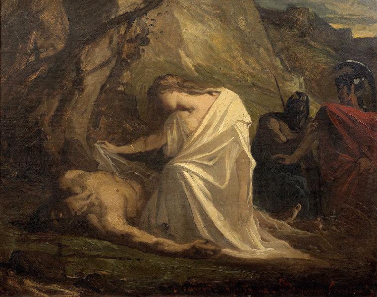 Antigone au chevet de Polynice_0