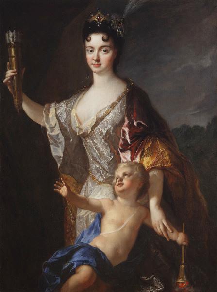Portrait de femme en Vénus désarmant l'Amour_0