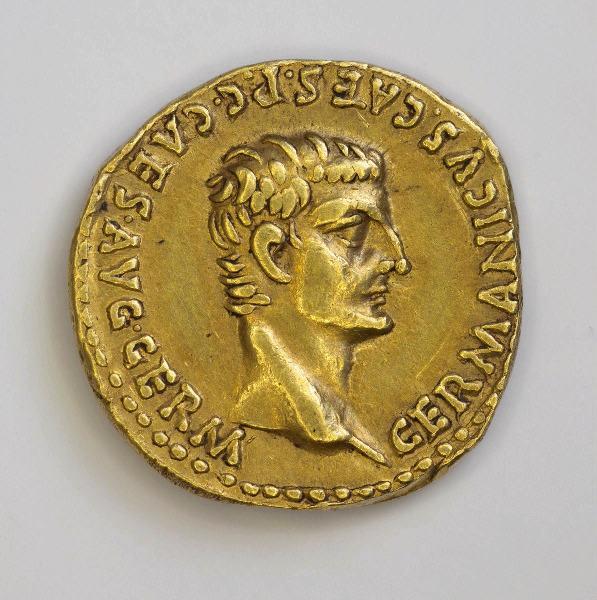 CALIGULA (dit), CAIUS CAESAR AUGUSTUS GERMANICUS (émetteur) : monnaie, aureus