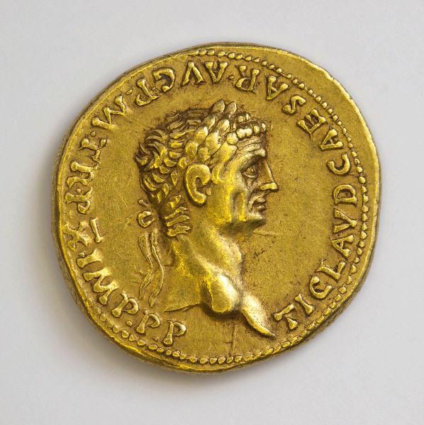 CLAUDE (émetteur) : monnaie, aureus