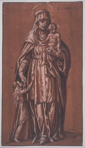 Sainte Anne, la Vierge et l'enfant Jésus
