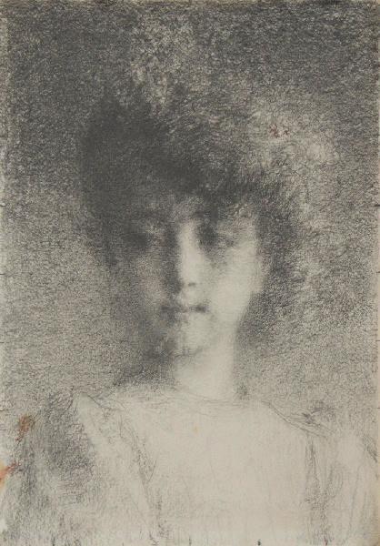 BRIGUIBOUL Marcel : Jeune fille au regard songeur