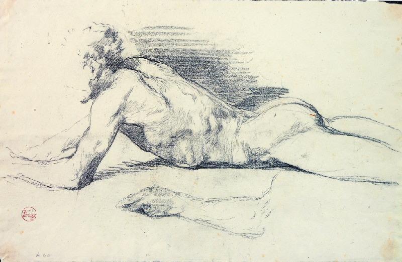 Homme nu allongé (étude n° 1)_0