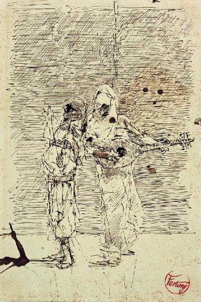 FORTUNY Y MARSAL Mariano : Deux musiciens arabes