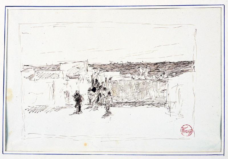 Scène de village marocain
