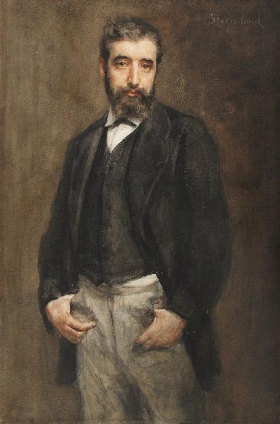 BRIGUIBOUL Marcel : Autoportrait au pantalon gris