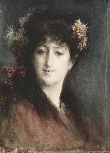 Jeune femme aux fleurs dans les cheveux_0