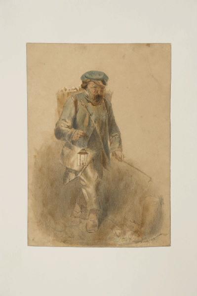 BRIGUIBOUL Marcel : Homme à la lanterne