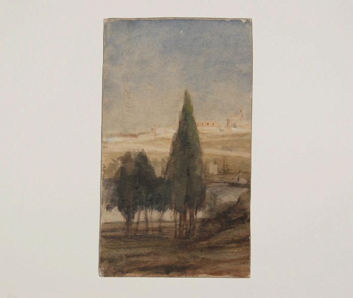 Paysages aux cyprés_0