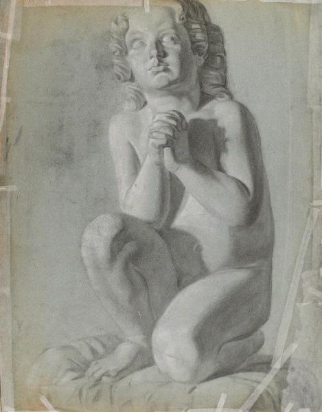 Enfant nu agenouillé (verso du n° inv 28-1-164-1 )_0