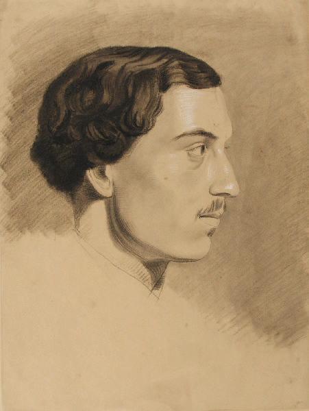 BRIGUIBOUL Marcel : Portrait d'homme de profil