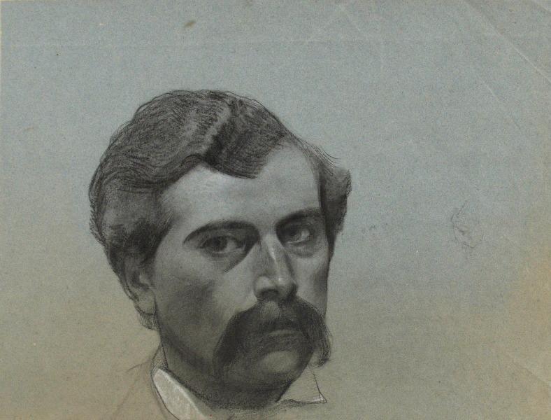 BRIGUIBOUL Marcel : Portrait d'homme à la moustache